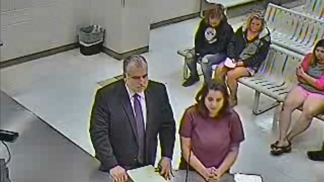 Yvonne Christina Cruze at her initial court appearance (Source: 3TV/CBS 5)