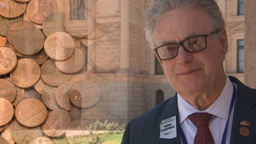 Rep. Noel Campbell has proposed a 1-cent sales tax for three years to fund teacher salaries and lower tuition at Arizona's three state universities. (Source: 3TV/CBS 5)