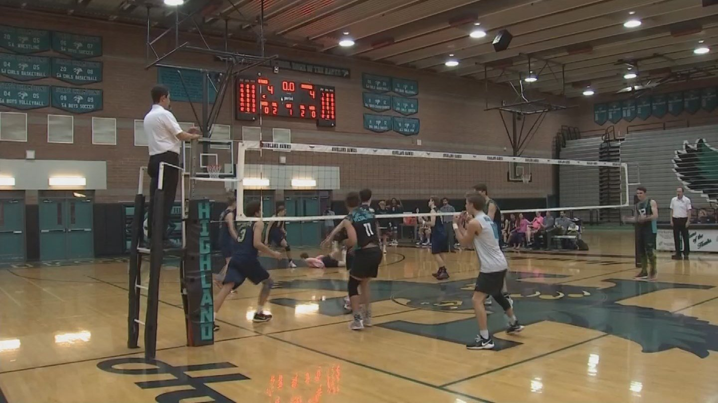 """Any games being canceled would affect us to not have the chance to take the one seed,"" Desert Vista varsity volleyball player Nick Heeres said. (Source: 3TV/CBS 5)"