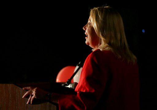 Republican U.S. Congressional candidate Debbie Lesko speaks after her congressional win, Tuesday, April 24, 2018. (Source: AP Photo/Matt York)
