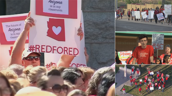 The next wave of teacher walkouts and demonstrations is about to begin. (Source: 3TV/CBS 5)