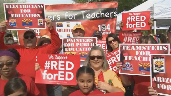 Thousands of teachers and supporters will rally at the state Capitol during the teacher walkout. (Source: 3TV/CBS 5)