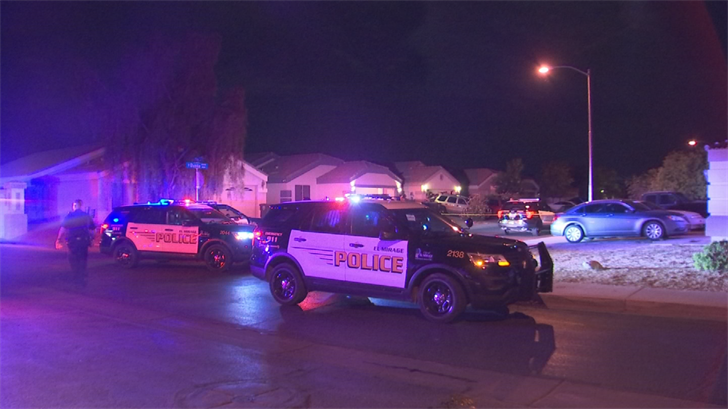 One of the suspects shot at the car, striking the driver in the chest and a passenger in the leg. (Source: 3TV/CBS 5)