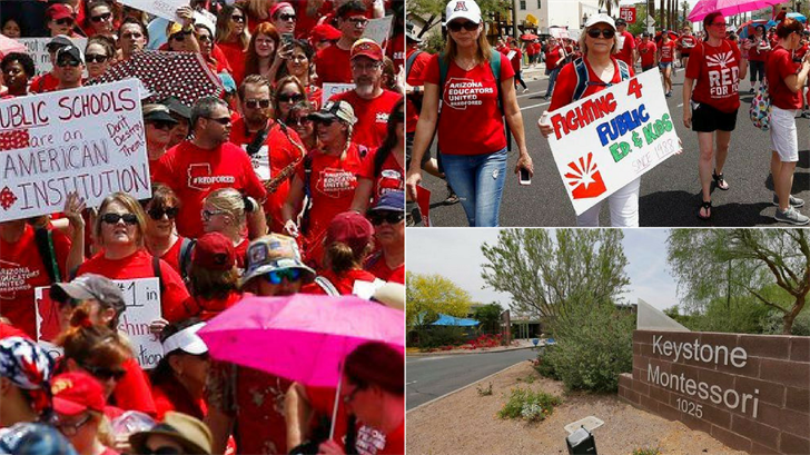 Arizona leaders dealing with an unprecedented teacher strike are paying the political price for resentment among public school teachers over funding as well as school vouchers. (Source: AP Photo)