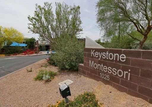 The Keystone Montessori charter school is shown Thursday, April 26, 2018, in Phoenix. (Source: AP Photo)