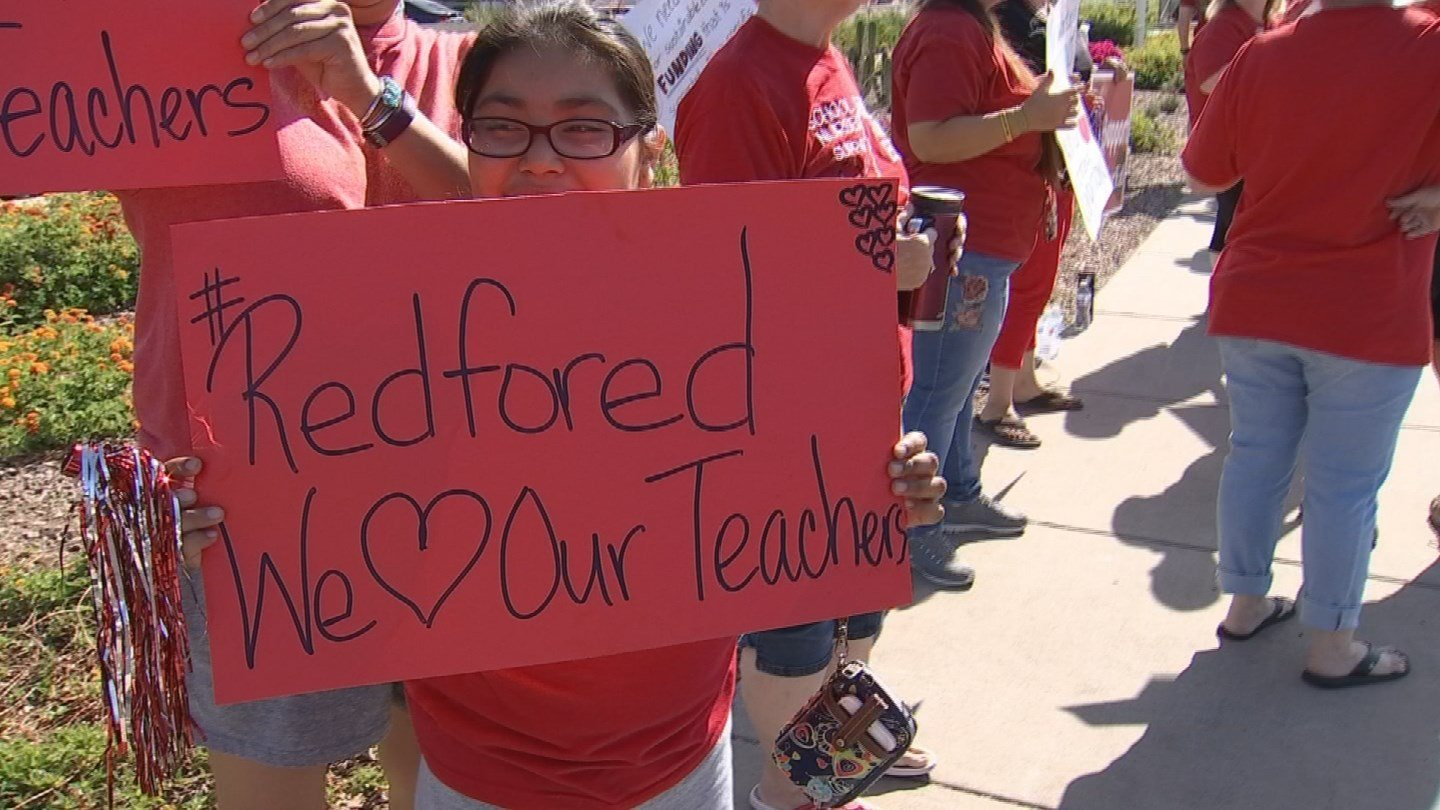 Teacher protests continued Saturday (Source: 3TV/CBS 5)