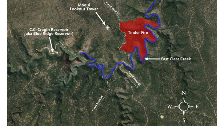 Tinder Fire forces evacuations, burns structures in central Arizona