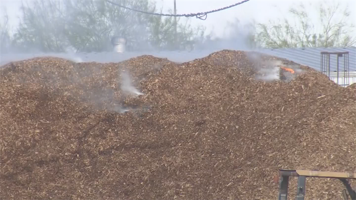 Smoke could be seen for miles. (Source: 3TV/CBS 5)