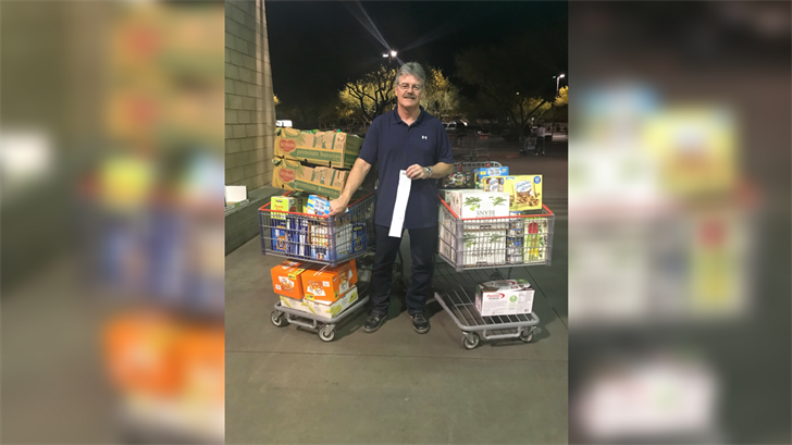 Craig Lloyd bought nearly $700 worth of food for students in need. (Source: Jessica Monroe)