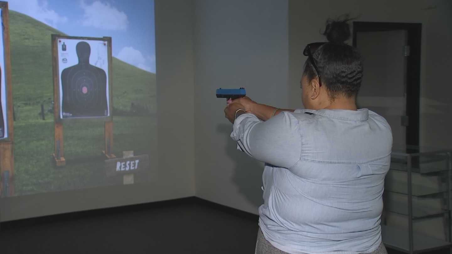 Santosha Dupuis is undergoing gun training. (Source: 3TV/CBS 5)