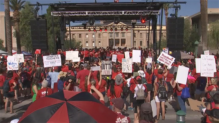 Educators are demanding more classroom resources and increased pay. (Source: 3TV/CBS 5)