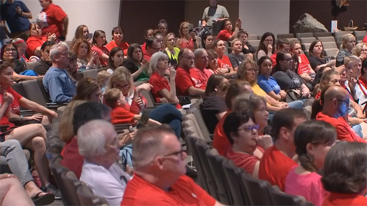 The event, organized by teachers in Mesa Public Schools, gave educators a chance to make their pitch for improved education funding directly to parents. (Source: 3TV/CBS 5)