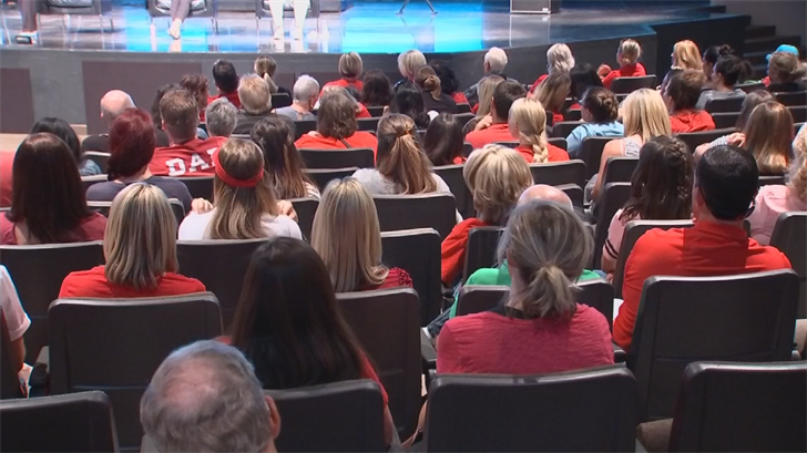 Teachers shared stories of classrooms packed with more than 40 students, improvised school supplies, faulty emergency equipment and educators fleeing the profession for higher paying jobs at places like Costco. (Source: 3TV/CBS 5)