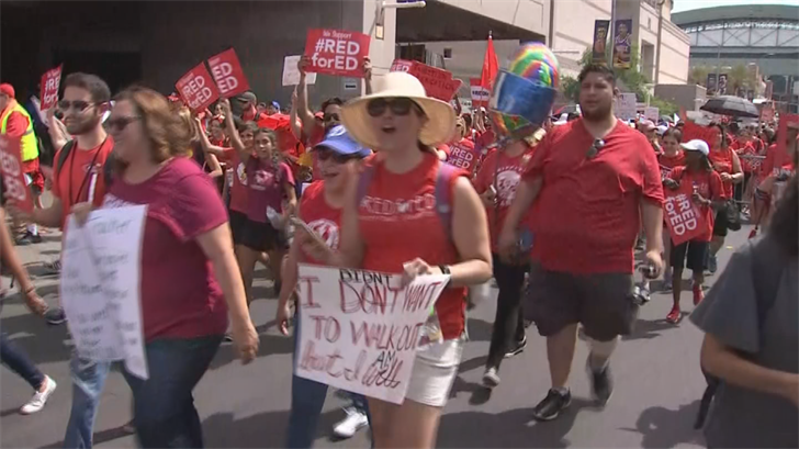 Tens of thousands of Arizona teachers are on strike to protest low pay and school funding, and many schools around the state remain closed. (Source: 3TV/CBS 5)