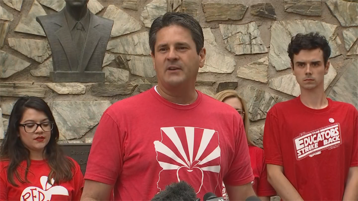 Joe Thomas said the teacher walkout was a success but isn't happy with the state budget. (Source: 3TV/CBS 5)