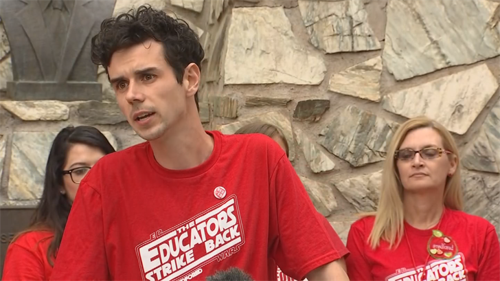 Noah Karvelis said the walkout was a success since more money is allocated to education. (Source: 3TV/CBS 5)