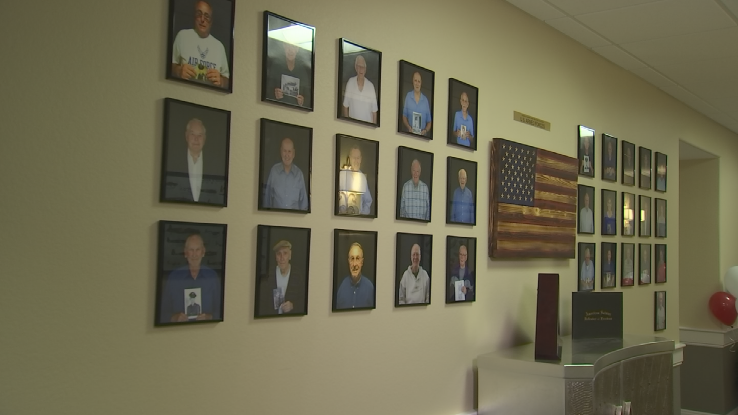 There's a wall at a retirement community in Anthem that honors veterans. (Source: 3TV/CBS 5)
