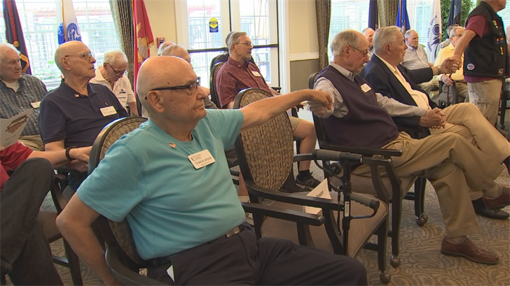 Each veteran received a medal, thank you card and a handshake. (Source: 3TV/CBS 5)