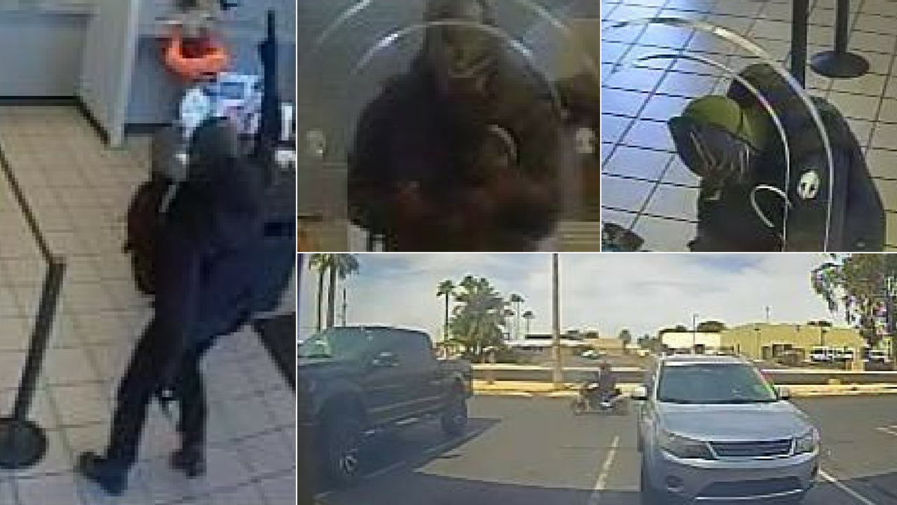 A man is wanted by the FBI after allegedly robbing a Phoenix bank with a handgun on April 30. (Source: FBI)