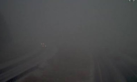 Poor visibility along I-17 south of Flagstaff (Source: ADOT)
