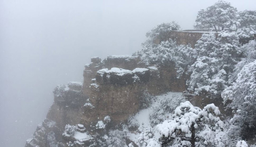 Snow at the Grand Canyon (Source: Grand Canyon National Park)