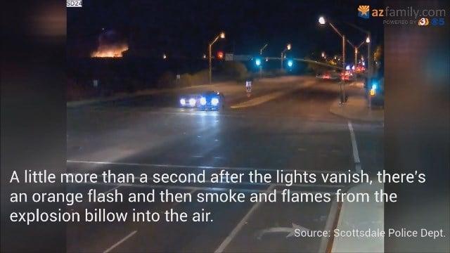 VIDEO: Traffic cam video shows plane crashing on Scottsdale golf - Arizona's Fam...