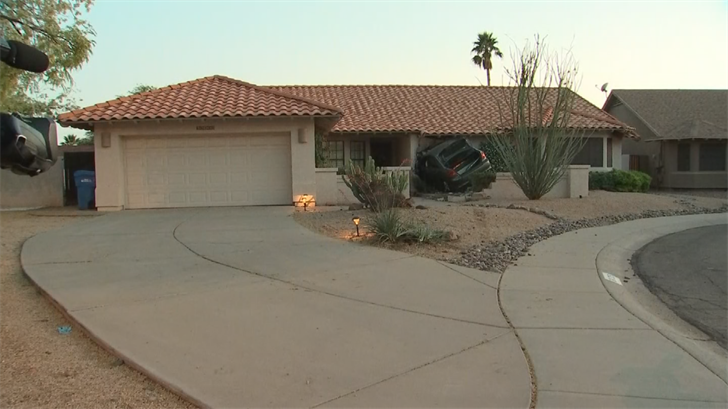 No one was inside the home. (Source: 3TV/CBS 5)