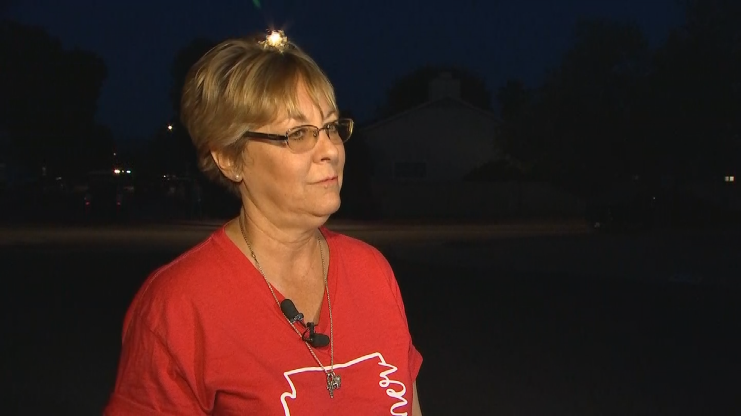Heidi McCullough was about to get out of her car when her car was hit. (Source: 3TV/CBS 5)