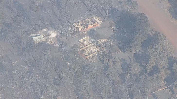 The Tinder Fire has damaged 30 homes and 17 minor, unknown buildings, according to the U.S. Forestry Service. (Source: 3TV/CBS 5)