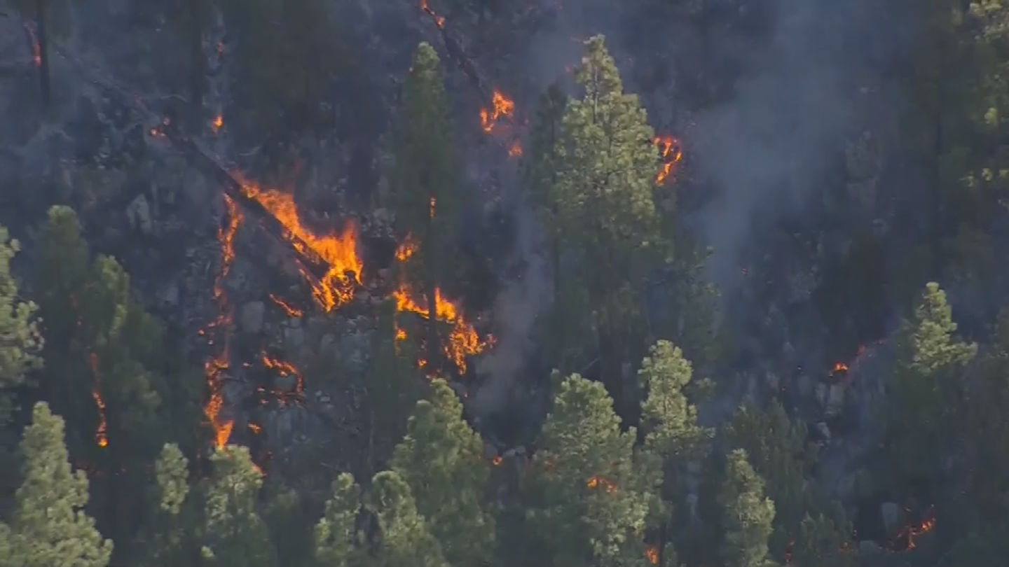 More than 600 firefighters are on the scene to make sure the flames don't spread. (Source: 3TV/CBS 5)