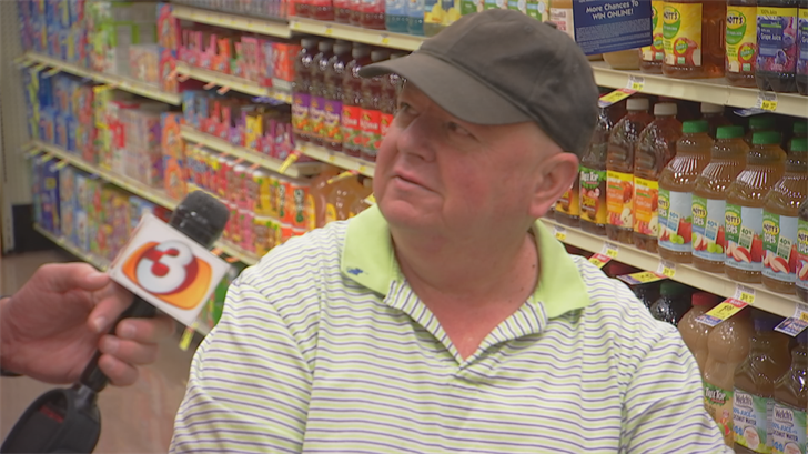 He gave a $100 gift card to a gentleman in a scooter, fresh from surgery. (Source: 3TV/CBS 5)