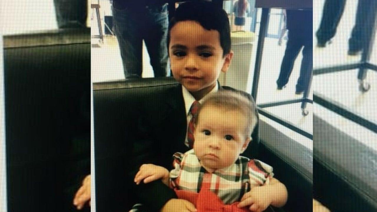 5-year-old Luis Ramirez Jr. holding 6-month-old Kahmila Ramirez.