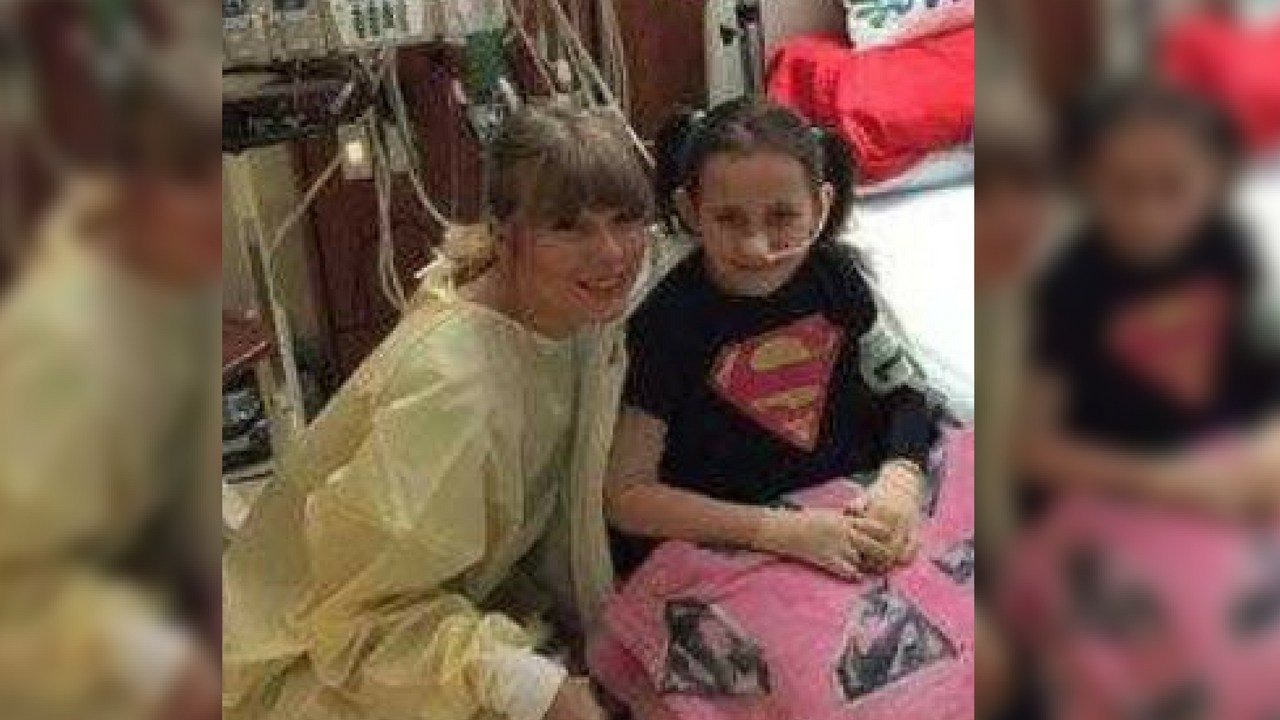 Taylor Swift surprises 8-year-old burn victim in hospital