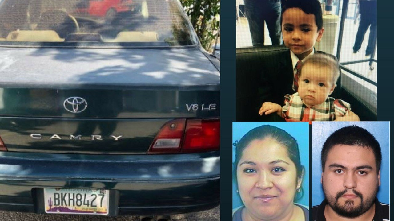 Authorities in Tucson have issued an Amber Alert for two children taken from a supervised visit with a DCS worker Friday. (Source: Tucson PD)