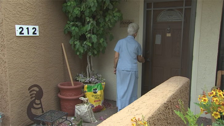 A lot of her workday is spent in a golf cart, making house calls to people who live in the retirement community. (Source: 3TV/CBS 5)