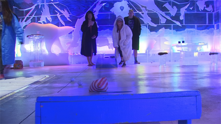 The Polar Play Ice Bar features virtual games, real games, crazy ice sculptures and a full bar. (Source: 3TV/CBS 5)