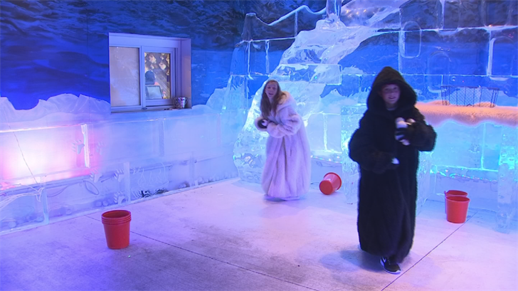 And the ice bar is open every day, so with triple-digit heat expected to continue into the week, parents can take their kids. (Source: 3TV/CBS 5)