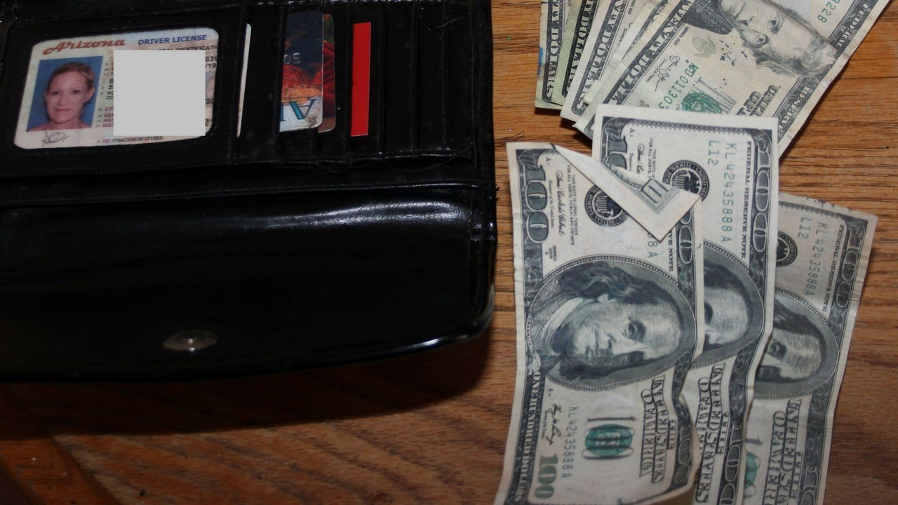 A large amount of counterfeit bills were found. (Source: Yavapai County Sheriff Dept.)