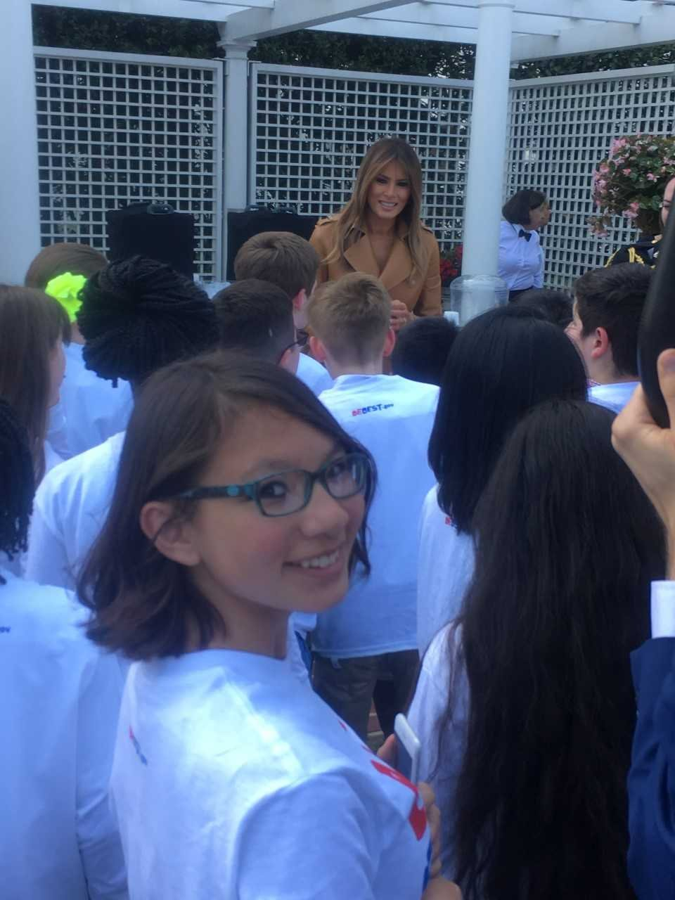 Kalani was in the audience as First Lady Melania Trump launched her 'Be Best' campaign. (Source: Jared Goldberg)