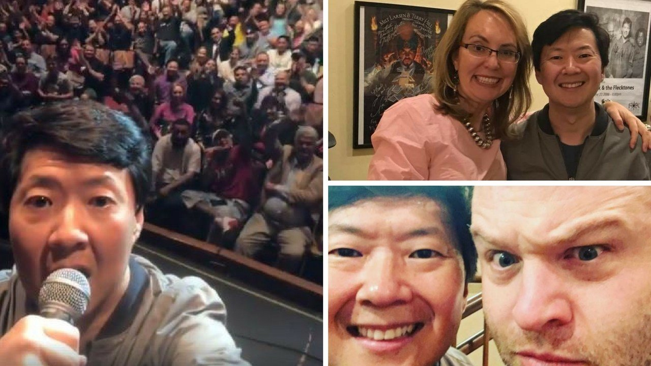 Comedian Ken Jeong came to the aid of an ill woman at his recent Phoenix show.