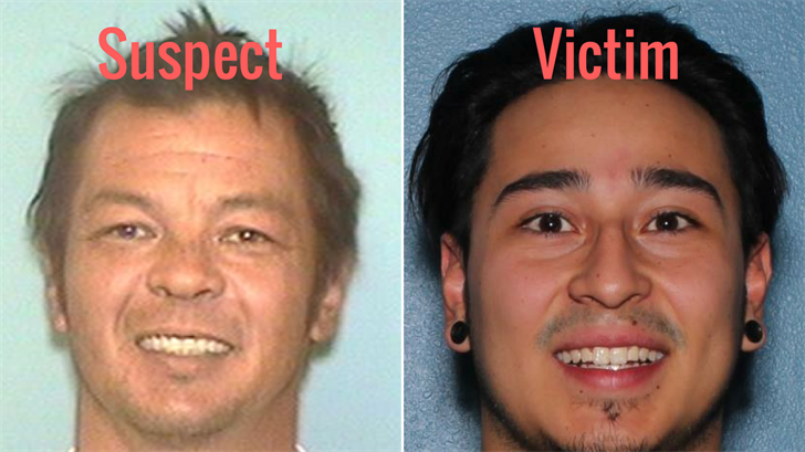 The suspect has been identified as Michael Lee Peacock, left, and the victim has been identified as Erick Prieto, right. (Source: Surprise Police Department)