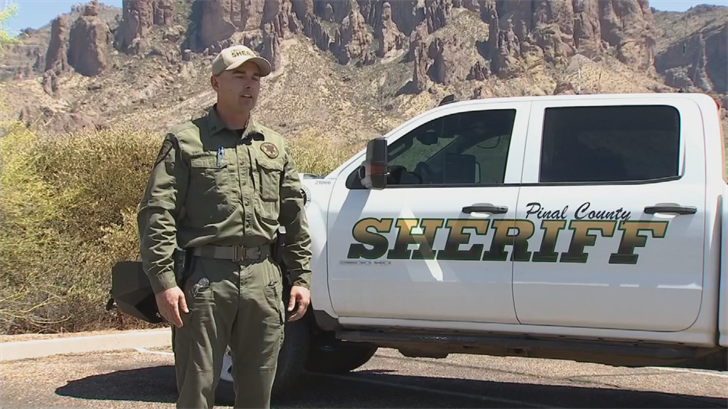 """""""Cellphones are making a huge difference, especially for search and rescue,"""" said Sgt. Doug Peoblewith Pinal County Sheriff's Office. (Source: 3TV/CBS 5)"""