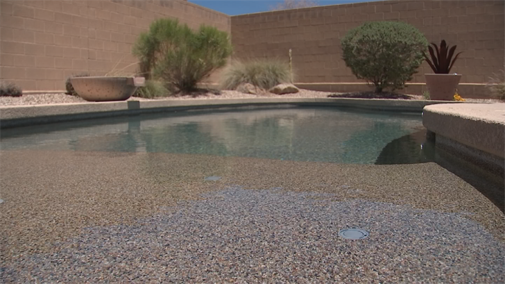 The concerned customer said she brought in a plumber, two landscapers, and a pool man to investigate and nobody could find a major leak or problem. (Source: 3TV/CBS 5)