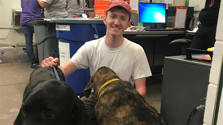 This man and his group found the dogs and carried them down the mountain and brought them to MCACC. (Source: Maricopa County Animal Care and Control)