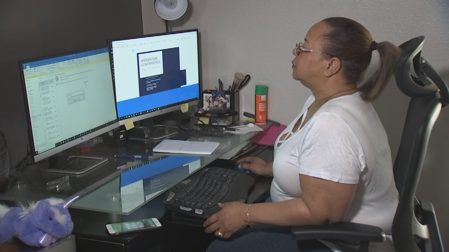 Patricia Chester says the same bank card she uses to pay her water bill was used to make fraudulent purchases from iTunes.(Source: 3TV/CBS 5)