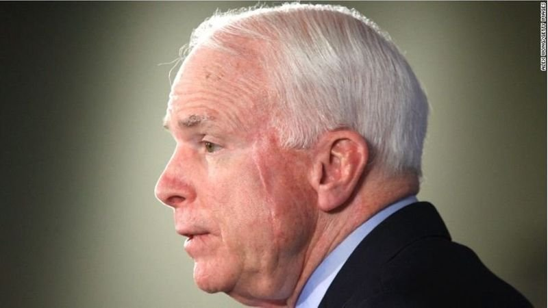 "Sen. John McCain called on the Senate to reject Gina Haspel's nomination to be the director of the CIA, citing her refusal in testimony on Wednesday to acknowledge ""torture's immorality."" (Source: CNN)"