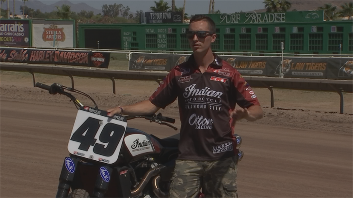 Racer Chad Cose will be competing on his Indian Scout FTR750. (Source: 3TV/CBS 5)