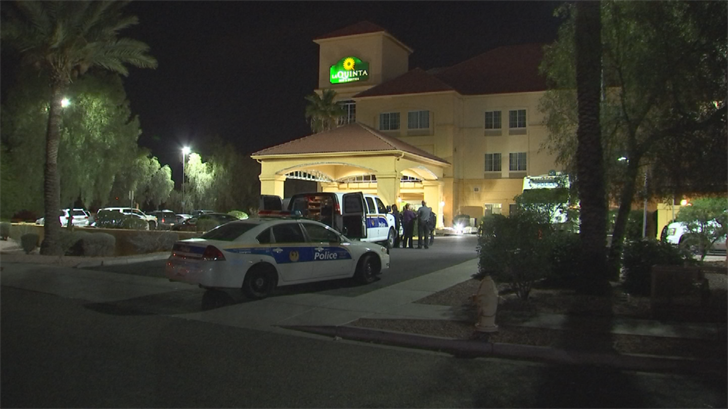 Investigators are actively working a homicide at a Phoenix hotel. (Source: 3TV/CBS 5)
