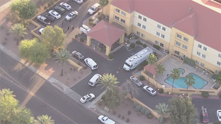 They found a 23-year-old woman shot inside the hotel. (Source: 3TV/CBS 5)