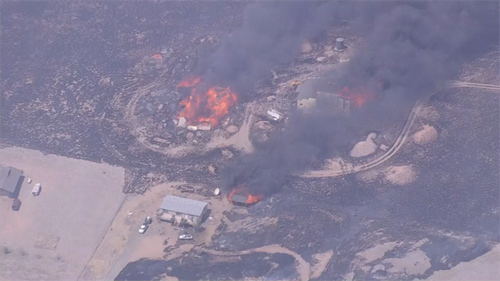 The Viewpoint Fire was reported Friday afternoon south of Chino Valley. (Source: 3TV/CBS 5)